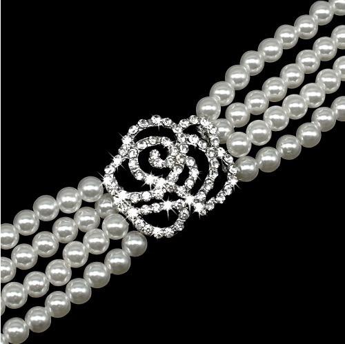 collar perlas e imitaciones diamantes envio gratis