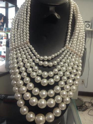 collar perlas gatsby party style espectacular (nuevo)