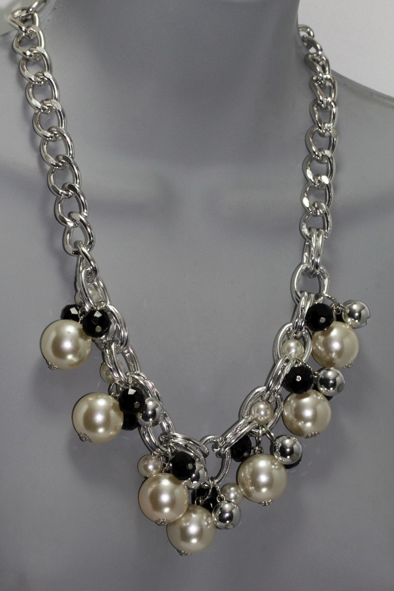 2b937ae28599 Collar Aretes Plateado Perlas Moda Mujer Joyeria Cc45 -   249.99 en ...