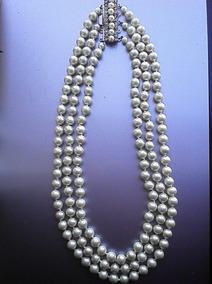 0c0ef9842ebd Collar De Perlas Antiguo Varias Vueltas en Mercado Libre Argentina