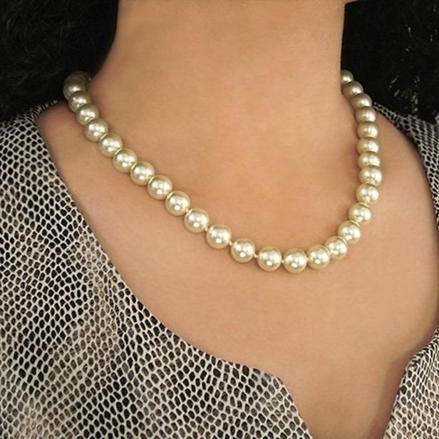 99b30902a94a Collar Perlas Majorica Clásico 10mm. Leer Antes De Comprar - Bs ...