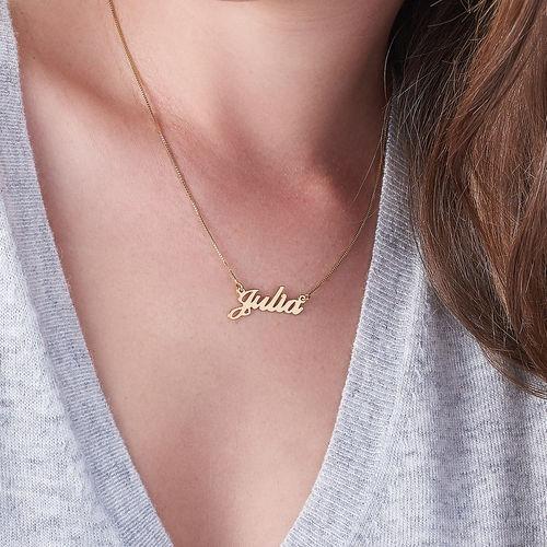 collar personalizado nombre oro macizo 14k