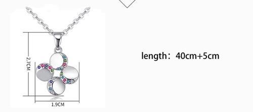 collar pétalos de chapa de oro con zirconia - 1056
