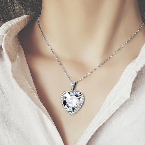 collar piedra collar plata