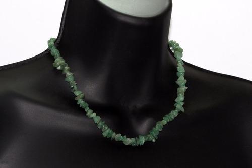 collar piedra joyeria dama aventurina verde en bruto ccpn611