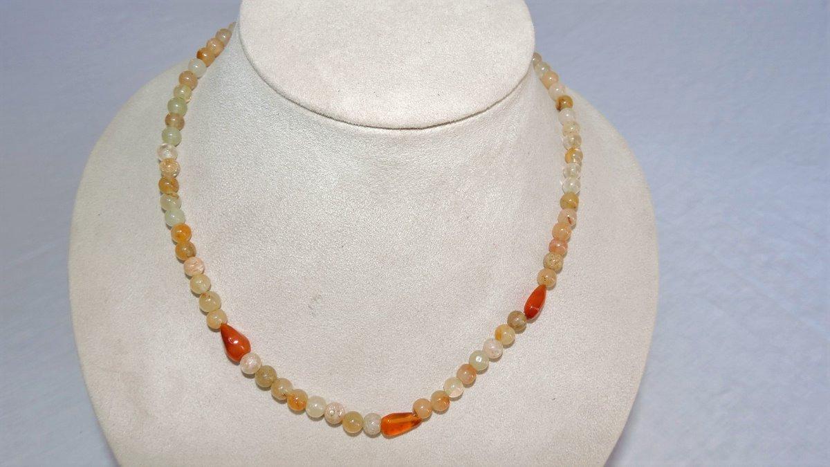 7773aa37170e Collar Piedra Natural  Agata (29) -   220.00 en Mercado Libre