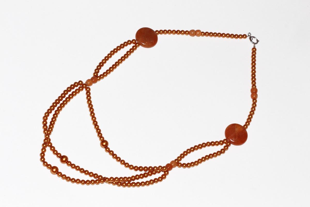 02c5b9ef1079 collar piedra natural joyería dama moda ágata café ccpn205. Cargando zoom.