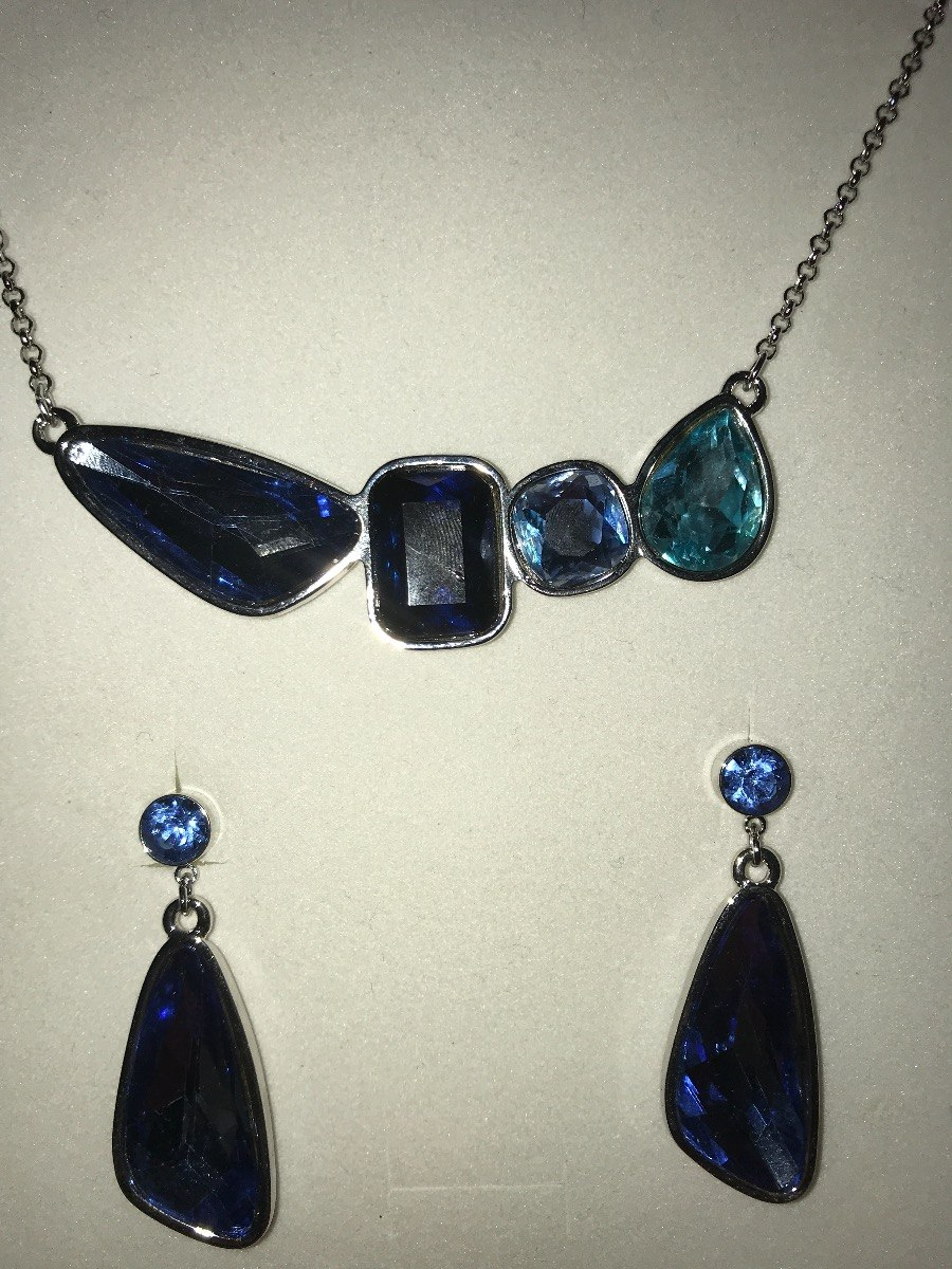 0d2ba4797c01 collar piedras azules nice. Cargando zoom.