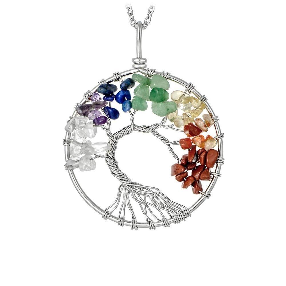 9e2a35ff679a collar piedras chakras arbol de la vida hermoso regalo. Cargando zoom.