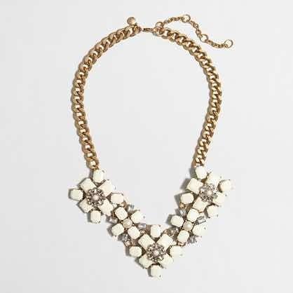 collar piedras y perlas natural y dorado/oro