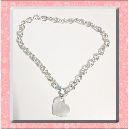 ce0b238ccd29 Collar Plata 925 + Dije Corazon Grabado Nombre Roló Tiffany ...
