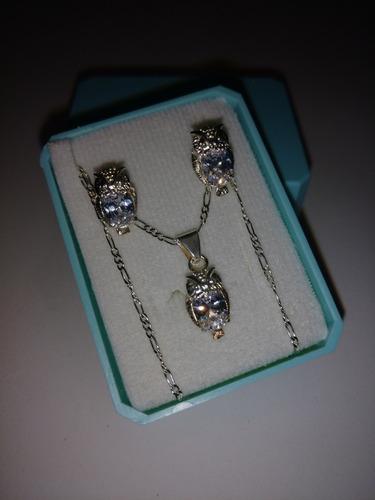 collar plata cristal