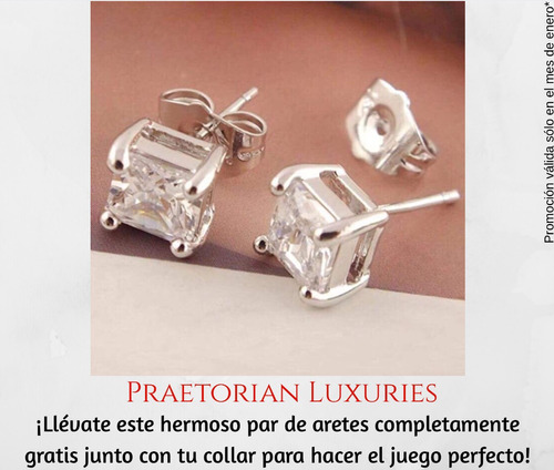 collar plata zirconia joyería