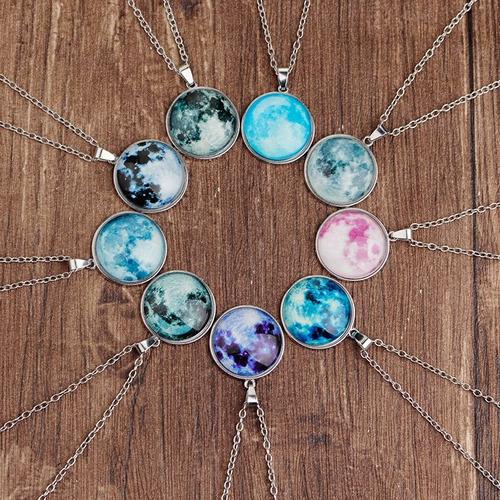 collar pulsera luna llena brilla en obscuridad regalo gratis