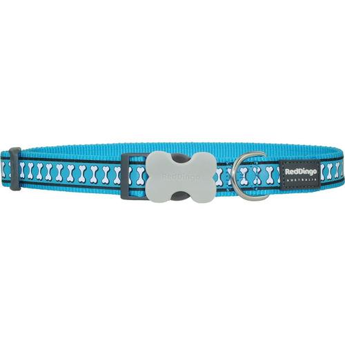 collar red dingo reflective azul