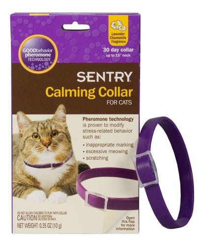 collar relajante para gatos con feromonas hasta 15 pulgadas