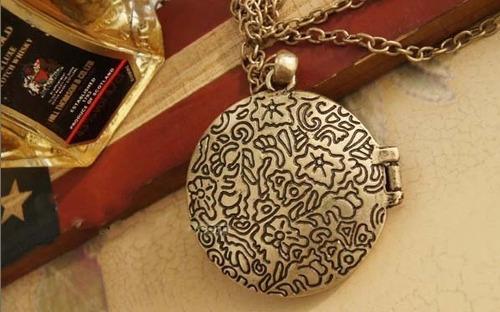 collar relicario búho - hermoso diseño