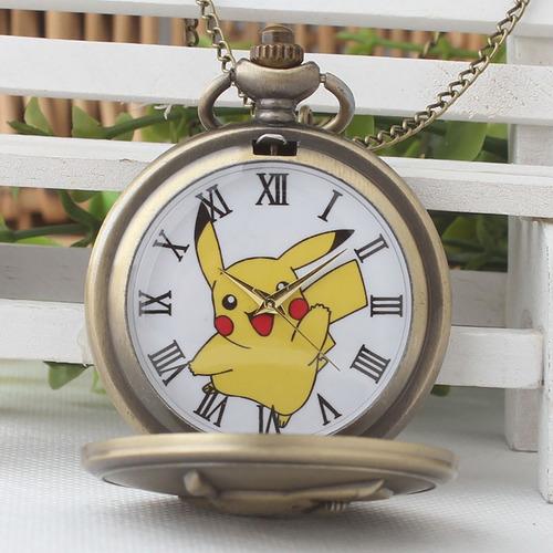 collar reloj the pokemon pikachu anime de colección