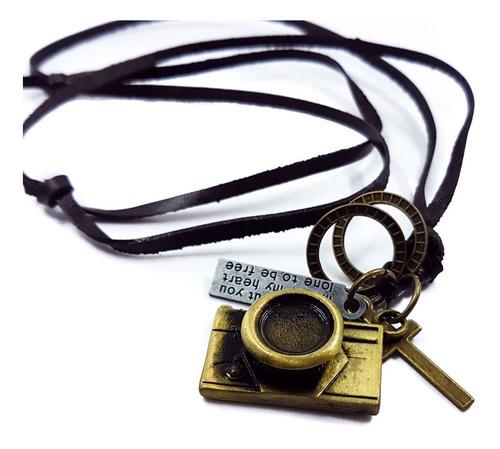 collar retro vintage unisex cuero original