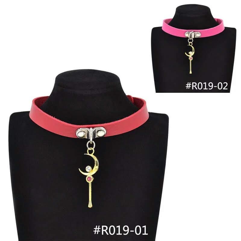 5e358ffc6fb3 Cargando zoom... collar sailor moon rojo rosa shocker