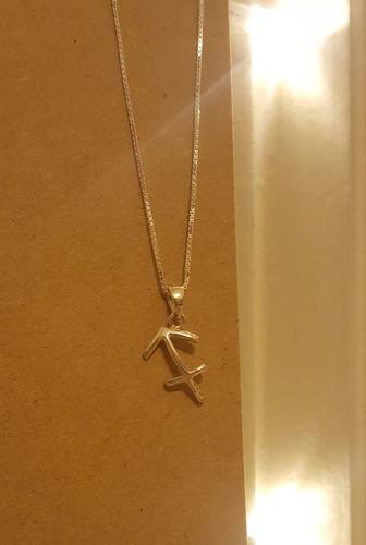 collar signo sagitario de plata 925