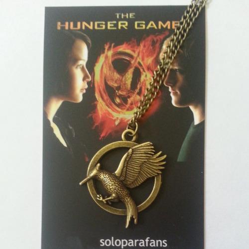 collar sinsajo en llamas color bronce juegos del hambre