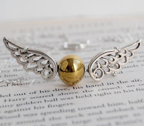 collar snitch dorada - harry potter - quidditch