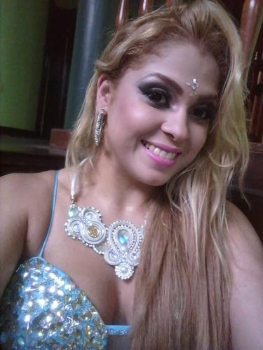 collar soutache babero maxi strass  etnico necklace