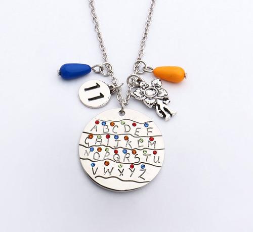 collar stranger things netflix cadena colguije fantasía zinc