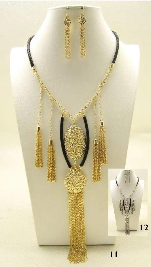 8cc0d9e469d5 collar tassel metálico dorado plateado largo bisutería fina. Cargando zoom.