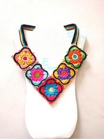 Collares Tejidos Al Crochet Precios Collares Y Cadenas En Mercado