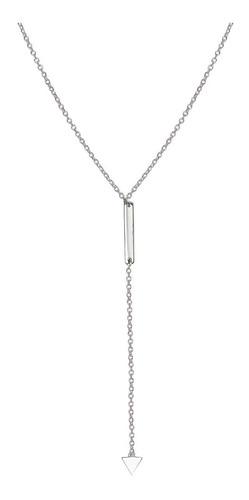 collar tipo corbatero de plata 925 rodinada mod. 50028