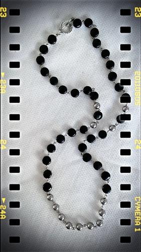collar tipo rosario con piedras semi preciosas