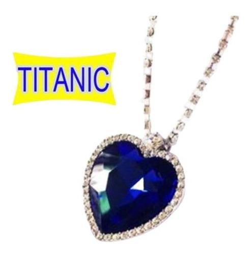 collar titanic ! replica exacta + aretes gratis amor corazon