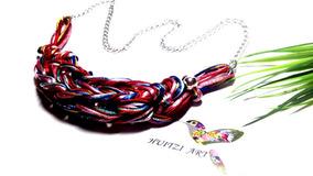 31ed92e99ea8 Collar Y Aretes En Mostacilla - Joyas y Relojes en Mercado Libre México