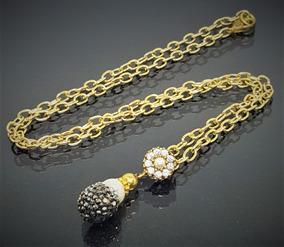 06123cb317a9 Cadenas Oro Laminado Delgadas Perlas - Collares y Cadenas en Mercado ...