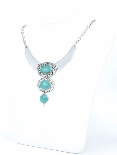 collar turquesa plata
