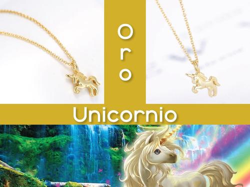 collar unicornio baño oro plata al 2x1 ¡adóptame! + mayoreo