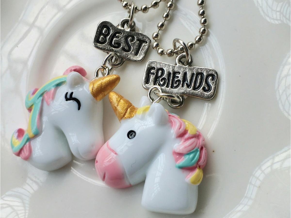 a4d0ffc106f6 Collar Unicornio Mejores Amigos Best Friends + Cadena Gratis ...