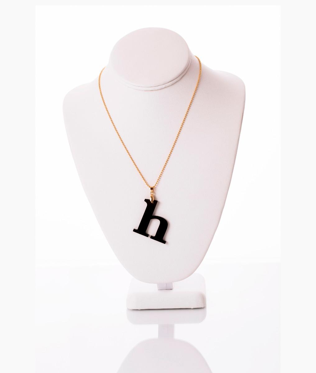 Collar van grieken letra h acrilico ba o de oro 18k - Bano de oro precio ...