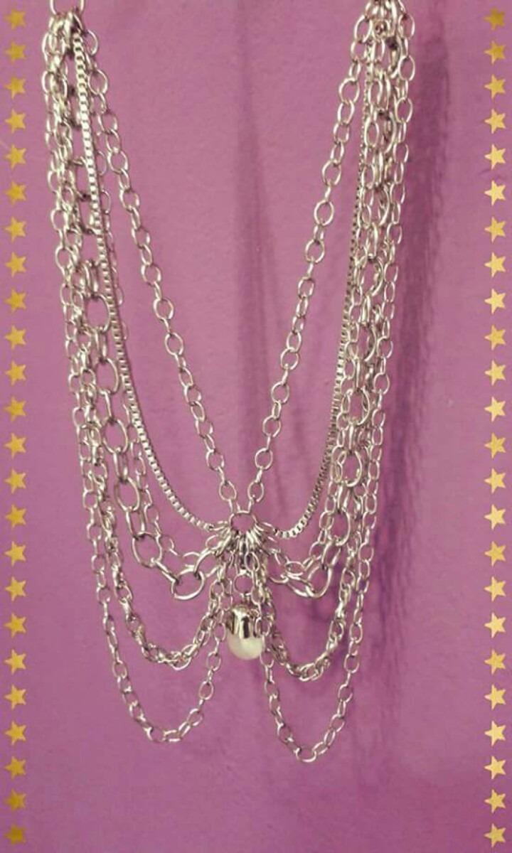 48362b7a0c24 collar varias cadenas y piedra! última moda!! Cargando zoom.