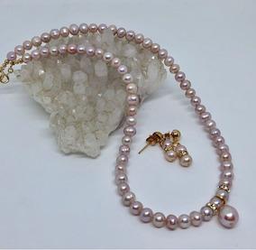 472b5b876448 Collar Perlas Doradas Oro Laminado - Collares y Cadenas en Mercado Libre  México