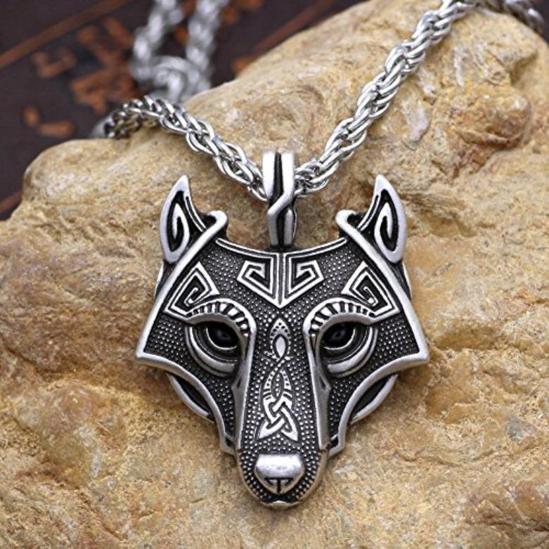 Collar Vikingo De Lobo Nordico Original Envi 243 Gratis