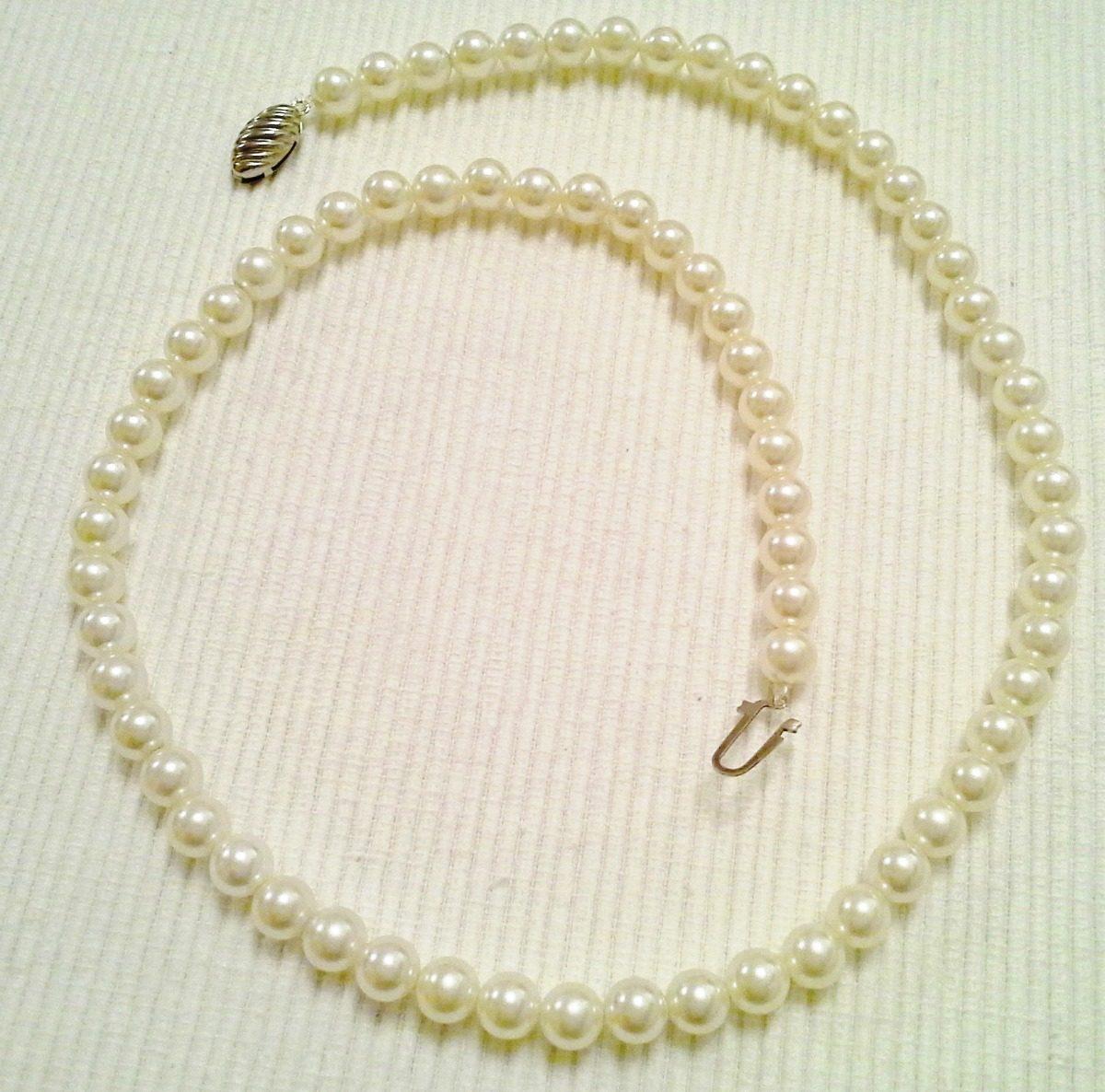 362c9a7ba756 collar vintage de perlas fantasía - largo 58cm. Cargando zoom.