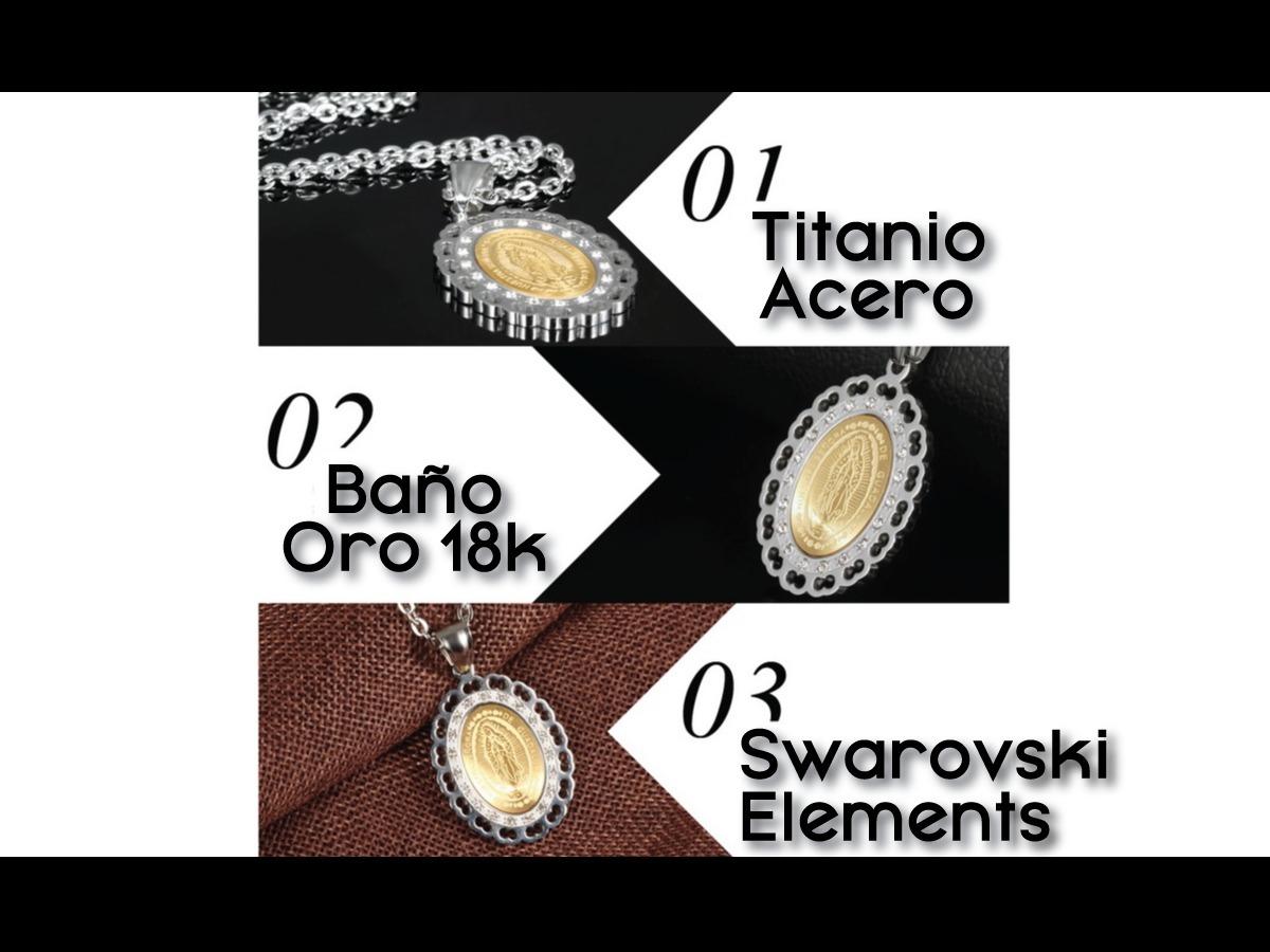 6f4134f79ddf Collar Virgen Titanio + Swarovski + Baño Oro + Envío Gratis ...