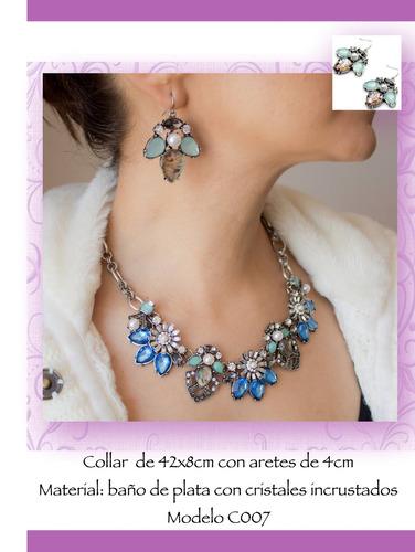 9267d25cceff Collar Y Aretes Azul Perlas Gossip Collection C025 -   399.99 en ...