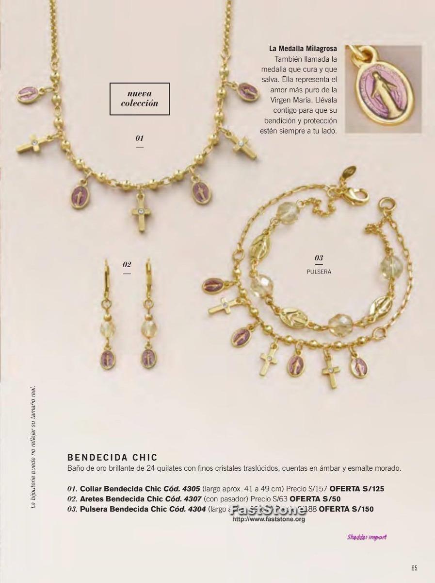 d172552149ba Collar Y Aretes Bendecida Chic -joya Unique - S  120