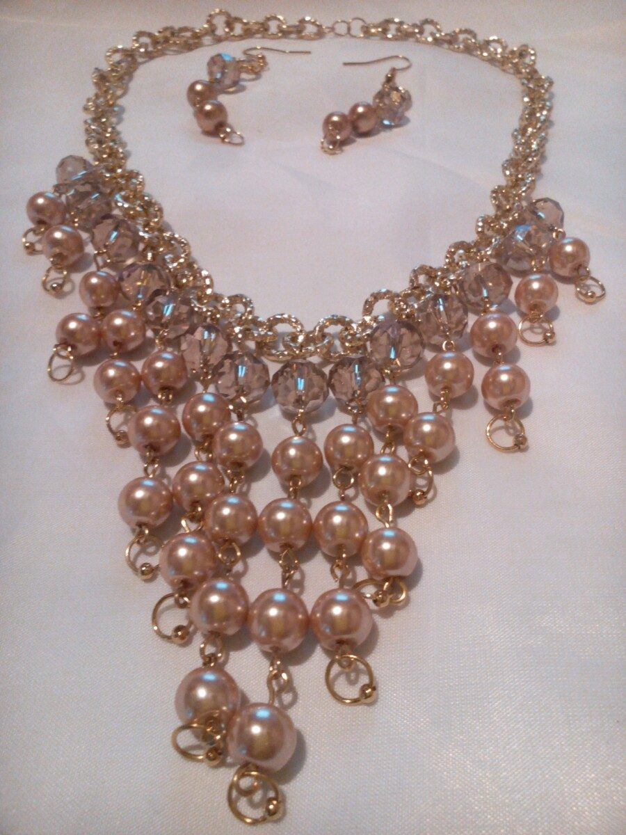6fb629969d97 Collar Y Aretes De Perla