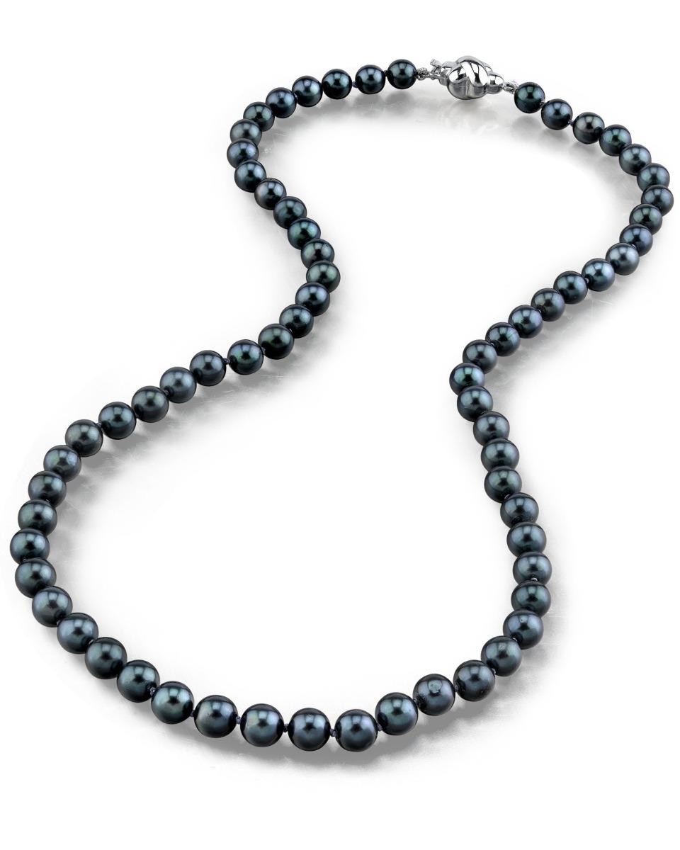 1e4d85e70305 collar y aretes de perlas naturales negras cultivadas. Cargando zoom.
