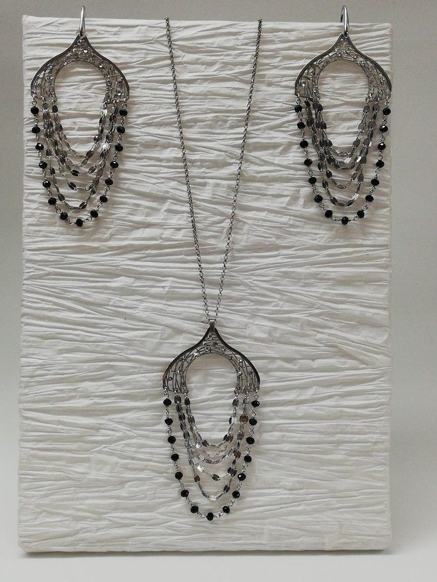 2e7bc493bf64 collar y aros set swarovski auténtico plata 925. Cargando zoom.